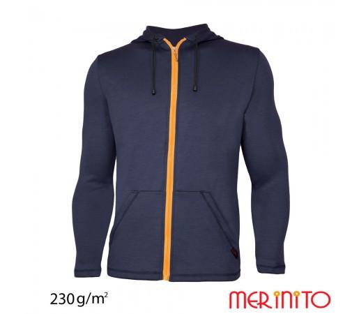Hanorac Merinito 100% Merinos 230g M Bleumarin