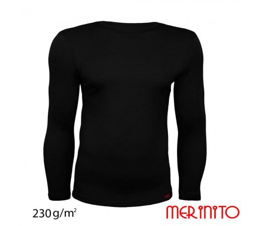 Tricou Merinito 100% Merinos 230g M Negru