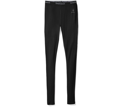 Pantaloni First Layer Femei Smartwool Merino 200 Bottom Negru
