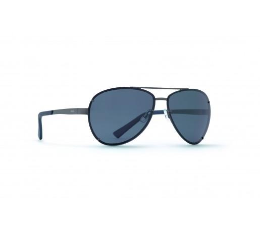 Ochelari de Soare Invu Classic Collection M Matt Black / Blue - Solid Smoke