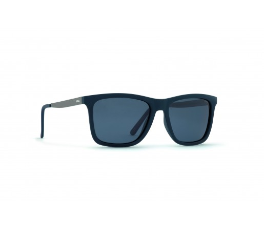 Ochelari de Soare Invu Classic Collection M Rubb. Navy / Matt Gun - Solid Smoke