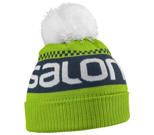 Caciula Salomon Junior Logo Beanie Verde/ Bleumarin