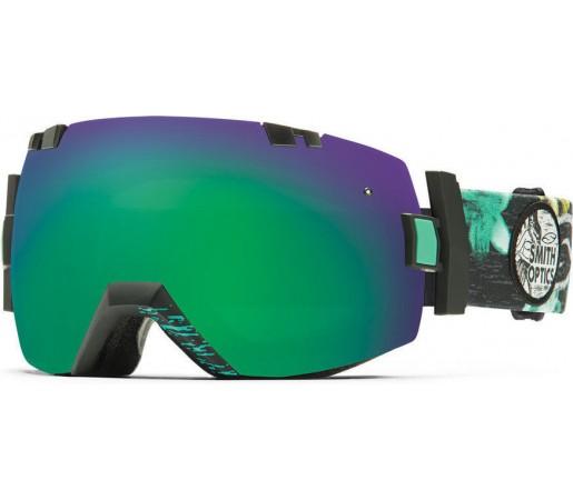 Ochelari Schi si Snowboard Smith I/OX Black Burnout/Green Sol-X mirror