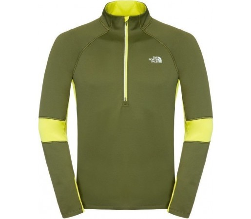 Mid Layer The North Face M Momentum Thermal 1/2 Zip Green
