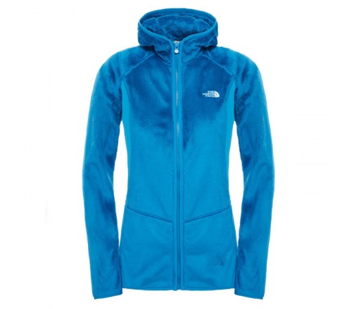 Bluza The North Face W Mossbud Full Zip Hoodie Albastra