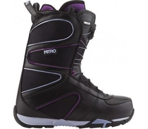 Boots Snowboard Nitro Crown TLS Negru/Mov 2013