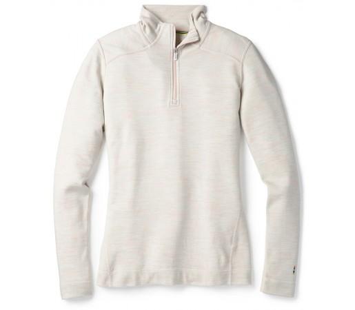 Bluza First Layer Femei Smartwool Merino 250 1/4 Zip Alb