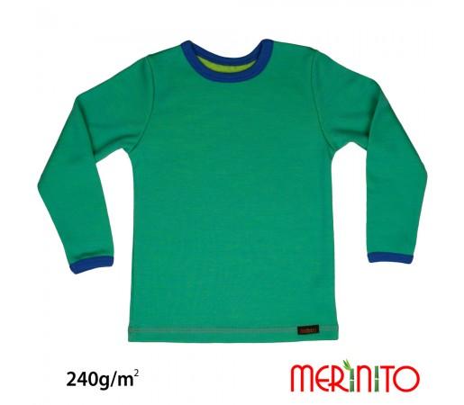 Bluza Merinito Merinos + Bambus 240g K Turcoaz