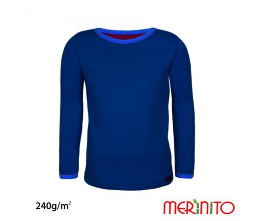 Bluza Merinito Merinos + Bambus 240g K Bleumarin / Albastru