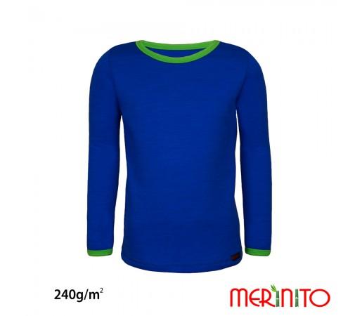 Bluza First Layer Merinito Merino + Bambus 240G K Albastru