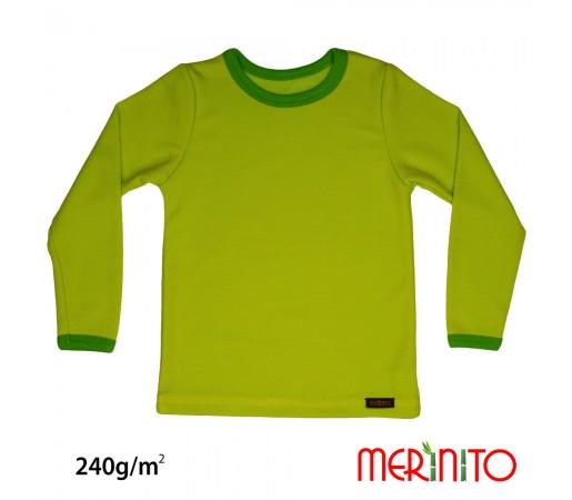 Bluza Merinito Merinos + Bambus 240g K Lime