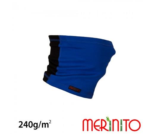 Necktube Merinito Merino + Bambus 240G K Albastru
