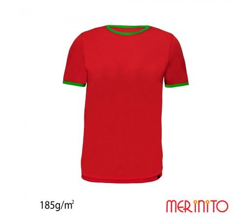 Tricou First Layer Merinito 100% lana merinos 185G K Rosu