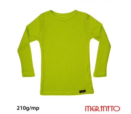 Bluza Merinito Rib Pointelle 100% Merinos 210g K Lime