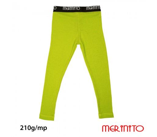 Pantaloni First Layer Merinito Rib Pointelle 100% Merinos 210g K Lime