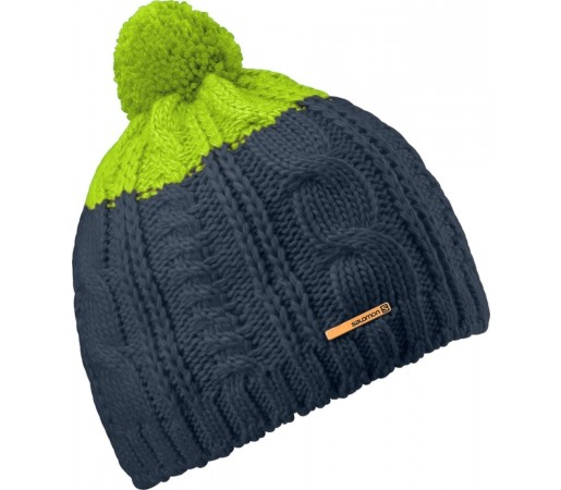 Caciula Salomon Back Country Beanie Big Blue Green