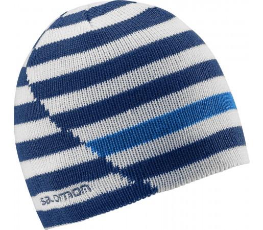 Caciula Salomon Stripe Reversible Blue - White