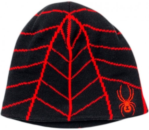 Caciula Spyder Mini Web Rosu/Negru