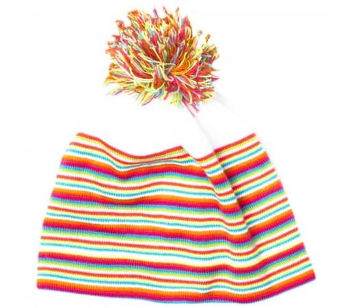 Caciula Spyder Stripes Alb/Multicolor