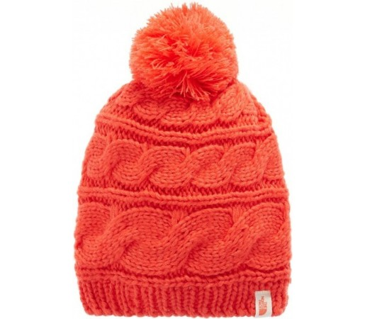 Caciula The North Face Triple Cable Pom Rosie