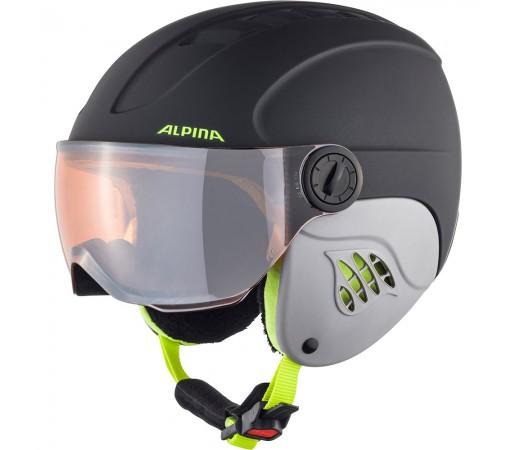 Casca Ski Alpina Carat LE Visor HM charcoal/neon matt