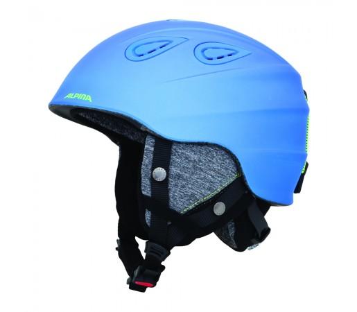 Casca Ski si Snowboard Alpina Grap 2.0 Albastru Neon / Galben Mat