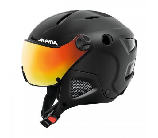 Casca Schi si Snowboard Alpina Attelas Visor QVM M Negru