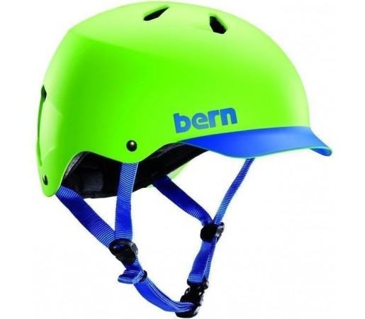 Casca Schi si Snowboard BERN Watts Matte Neon Green/ Blue Brim 2014