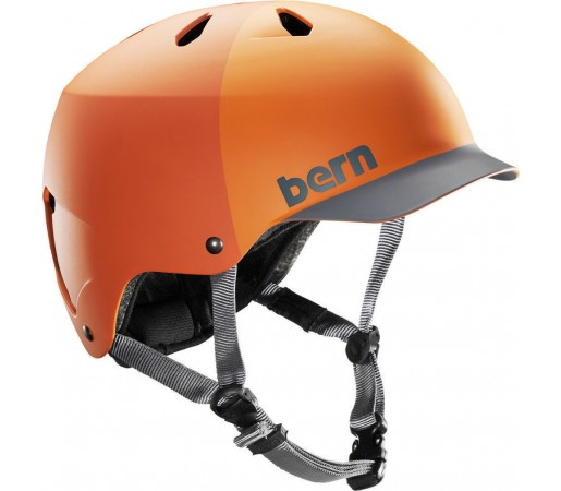 Casca Schi si Snowboard BERN Watts Matte Orange Hatstyle 2014