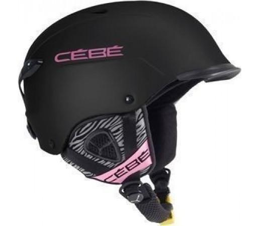 Casca Ski si Snowboard Cebe Contest Visor  Matt Black-Pink Zebra
