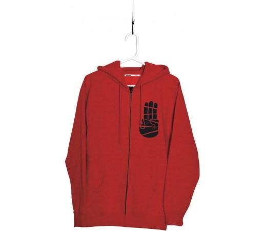 Hanorac Bataleon Cut Up Zip Hood Red 2013