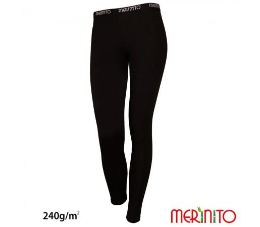 Pantaloni First Layer Femei Merinito 240g/mp Negri