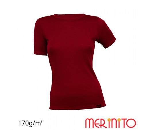 Tricou Dama Merinito Visiniu