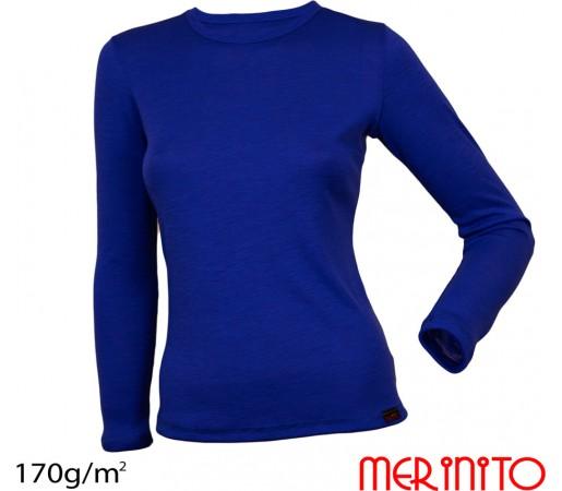 Bluza First Layer Femei Merinito Albastra