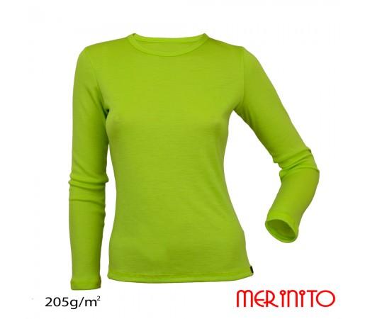 Bluza First Layer Femei Merinito Verde