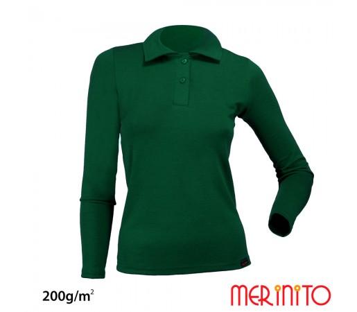 Bluza Merinito Polo Jersey 200g W Verde