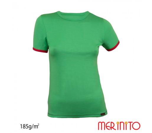 Tricou First Layer Merinito 100% lana merinos 185G W Verde