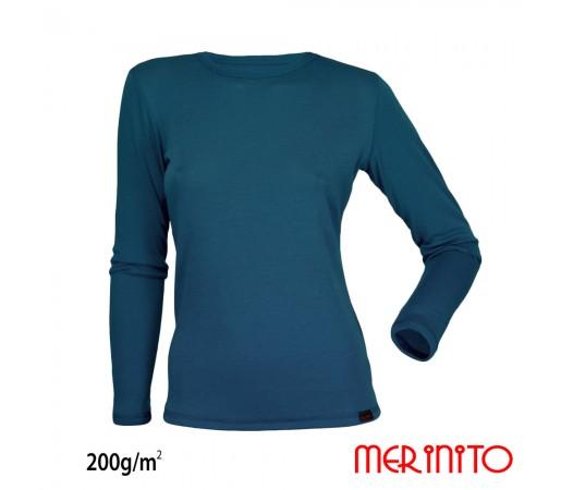 Bluza First Layer Dama Merinito 200g/mp Turcoaz