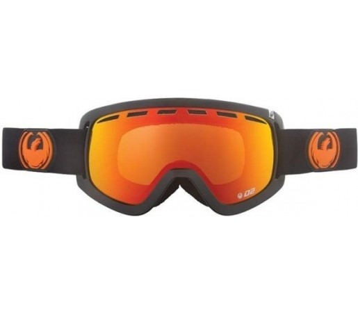 Ochelari Schi si Snowboard Dragon D2 Jet  / Red Ion + Yellow Blue Ion