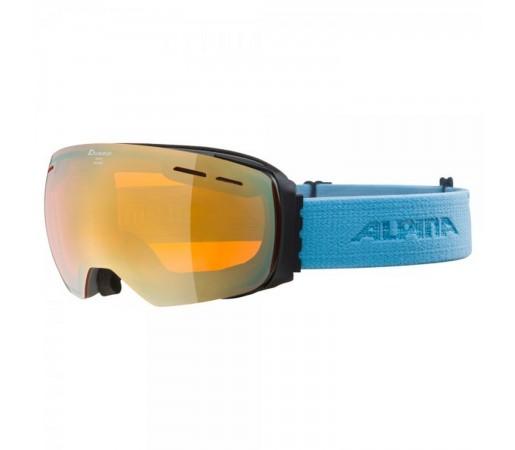 Ochelari Ski Si Snowboard Unisex Alpina Granby HM Grey-Skyblue/Gold Sapphire Gri