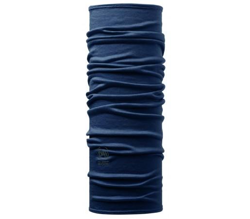 Neck Tube Buff Merino Solid Albastru