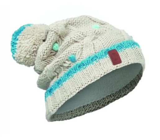 Caciula Buff Knitted & Polar Dysha Junior Alba