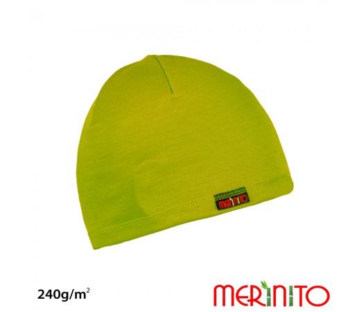 Caciula Merinito Merinos + Bambus 240g Lime