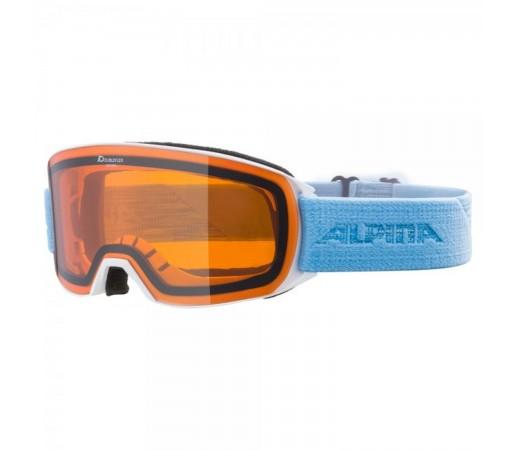 Ochelari Ski Si Snowboard Unisex Alpina Nakiska DH White-Skyblue Alb