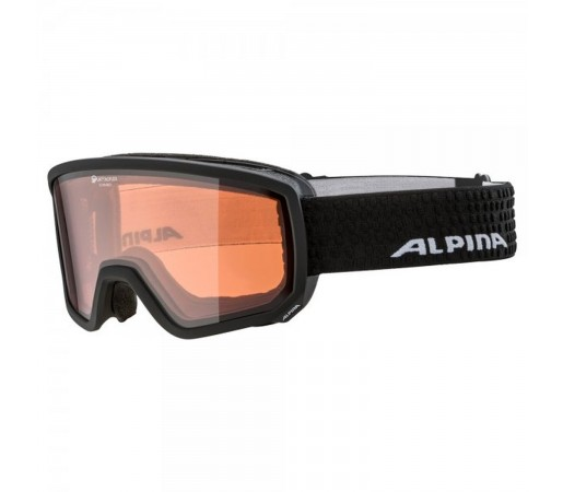 Ochelari Ski Si Snowboard Unisex Alpina Scarabeo QH Black Matt Negru