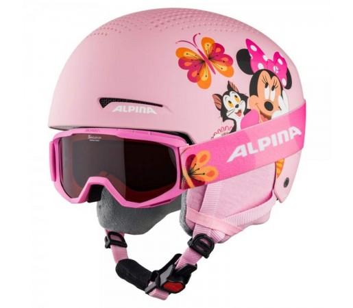 Casca si Ochelari Ski Copii Alpina Zupo Disney Minnie Mouse Multicolor