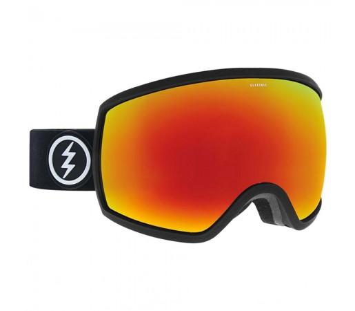 Ochelari Ski si Snowboard Electric EGG Matte Black / Brose Red Chrome + Pink
