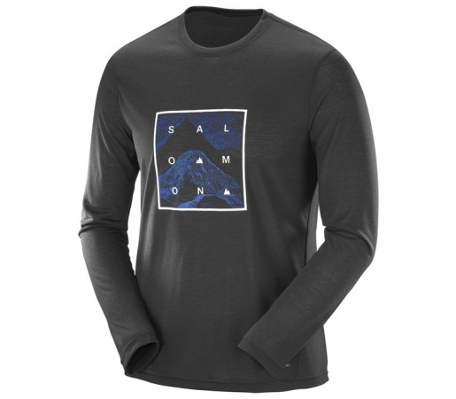 Bluza Salomon Explore Graphic Ls Tee M Neagra