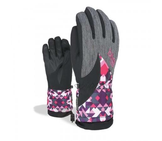 Manusi Ski Copii Level Bliss Gems Girl Pattern (Multicolor)