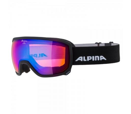 Ochelari Ski Si Snowboard Unisex Alpina Scarabeo HM Black Matt/Blue Negru
